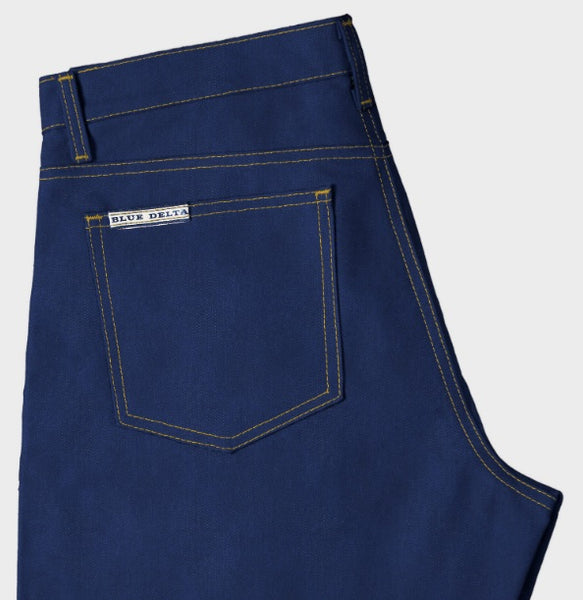 Blue Delta Custom Jeans - Men's - Postman Blue 8.5 oz. Raw Denim with stretch