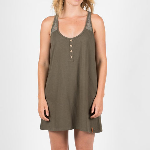 Amble Dress - Tarmac Green