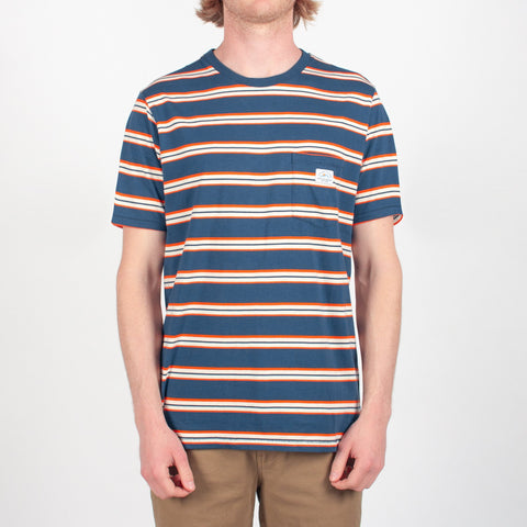Revelstoke T-shirt - Blue Nights Stripe
