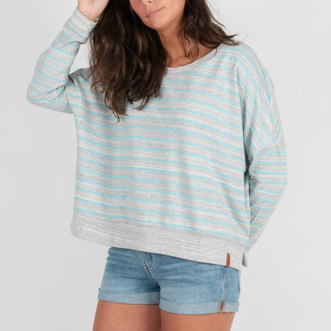 Sofia Sweater - Grey/Blue