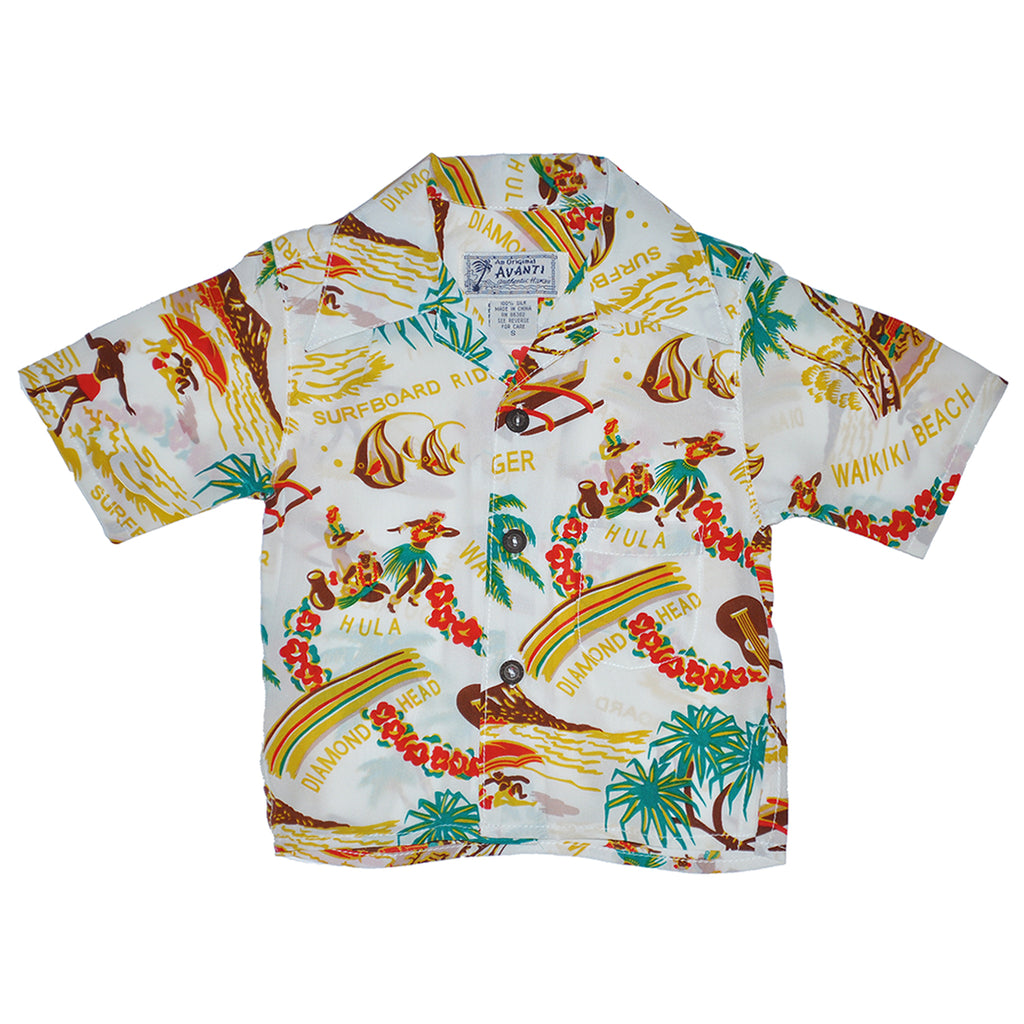 Boy's Surfboard Ride Hawaiian Shirt