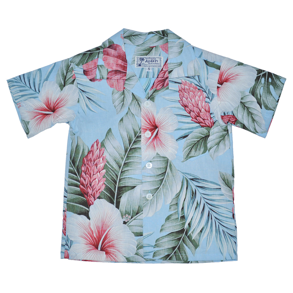 Boy's Botanical Isle Aloha Shirt