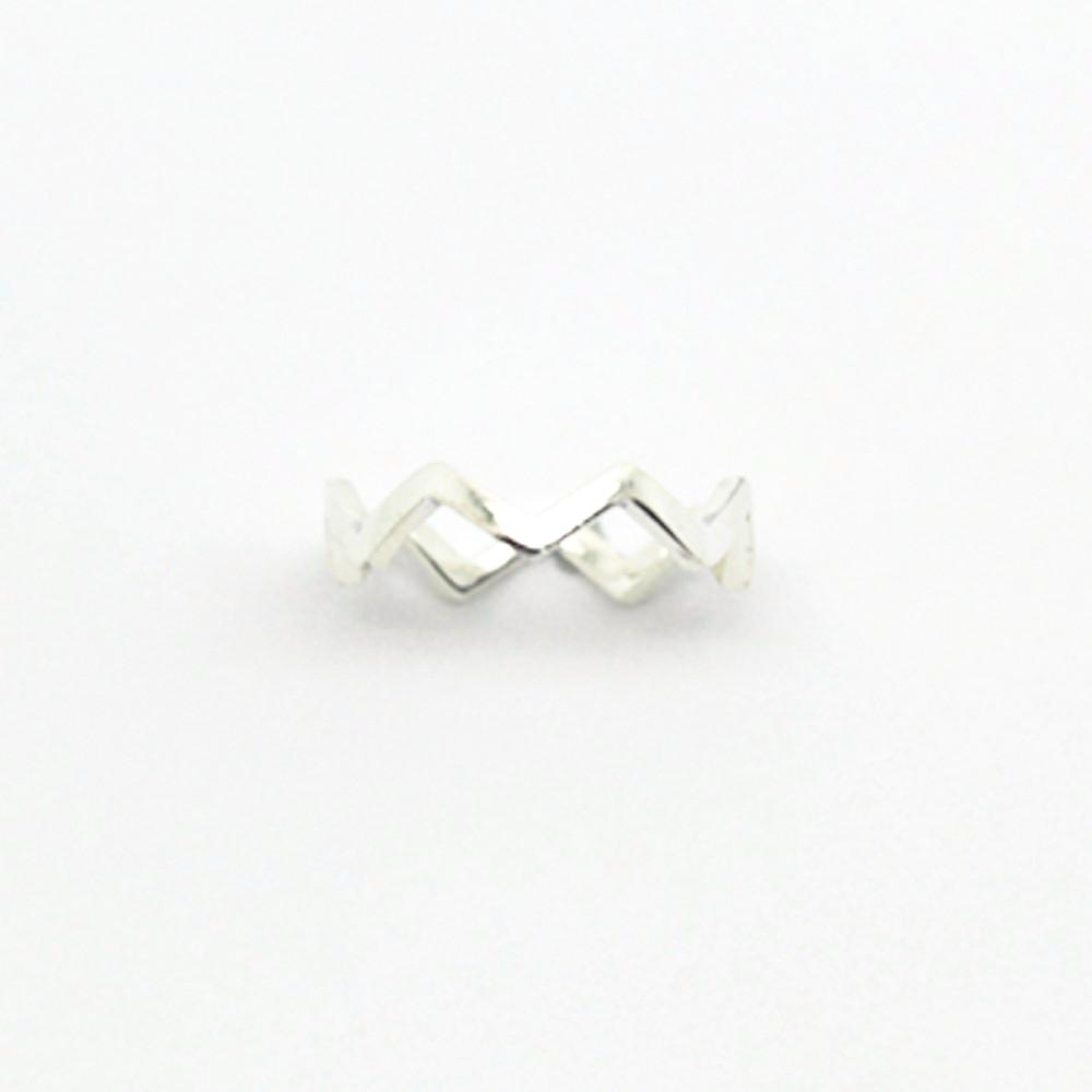 123home | Sterling Silver Zig Zag Ring