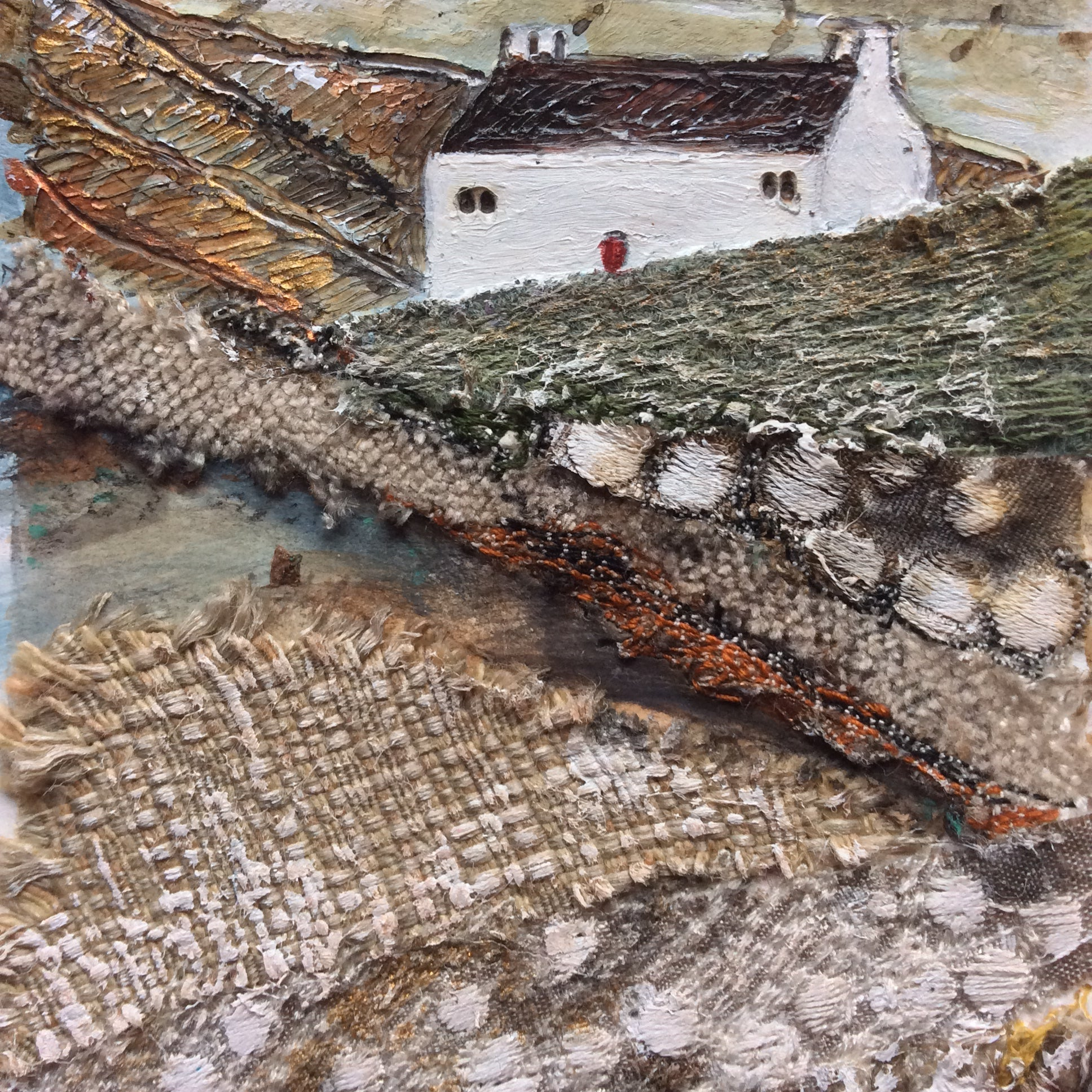 "Mixed Media Art work by Louise O'Hara ""Autumn had arrived early"""
