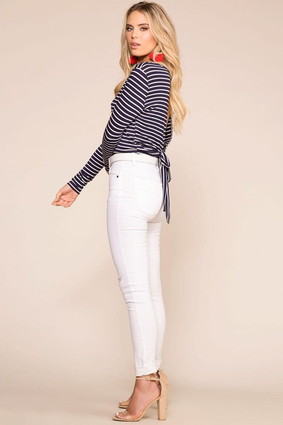 Sammy White Distressed Skinny Jeans | Shop Priceless