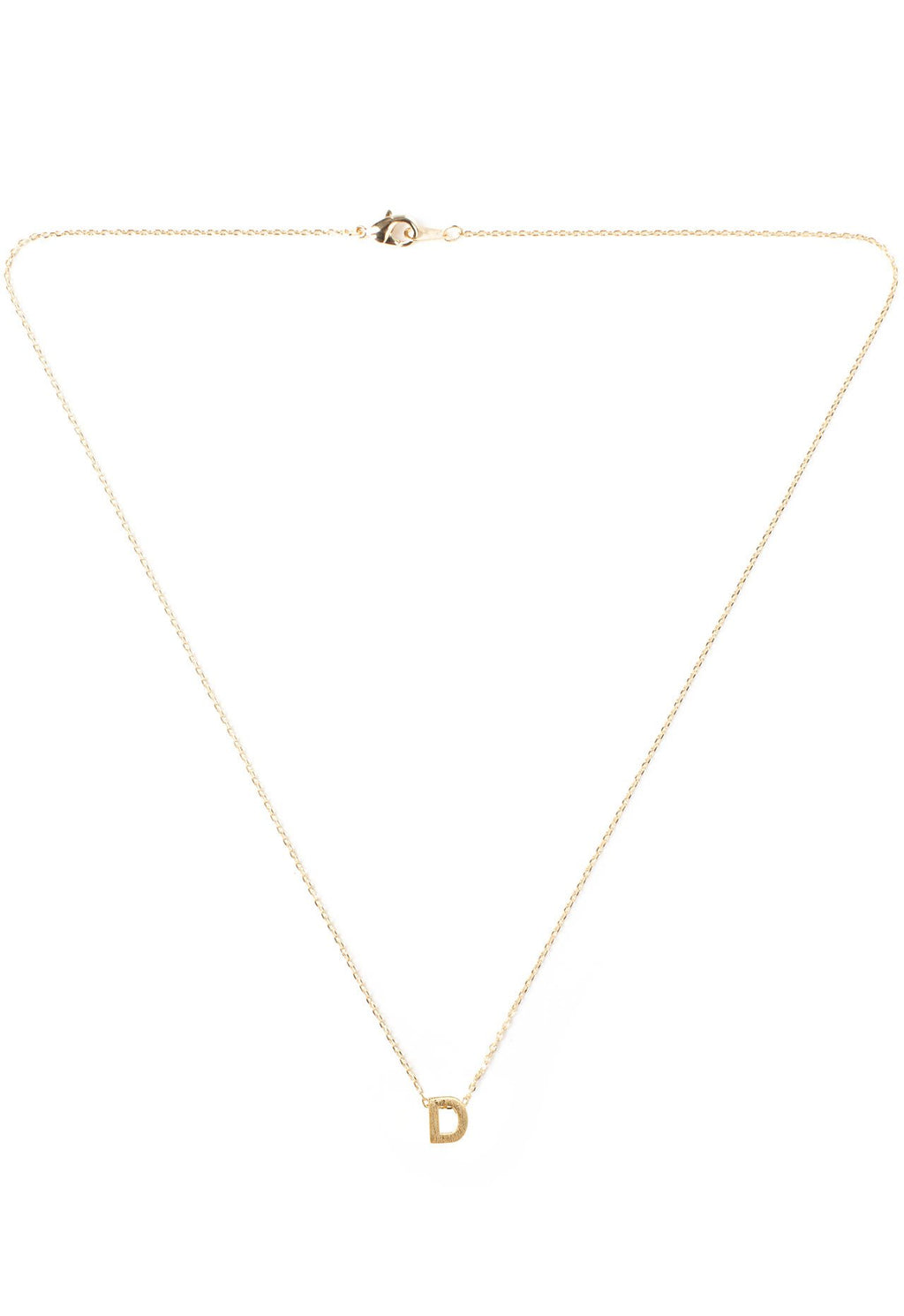 Jewelry - Be Yourself Initial Necklace - D
