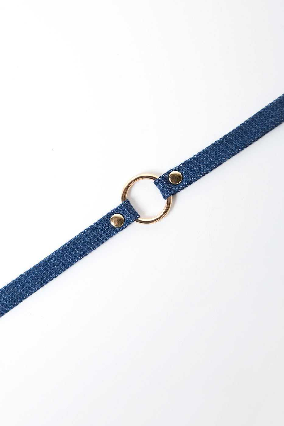 Jewelry - Rendezvous Denim Choker Set - Gold