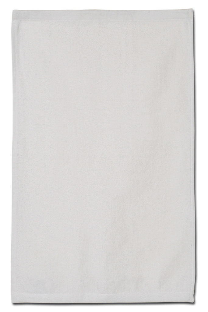 "16"" x 26"" velour golf towel with dobby hem"