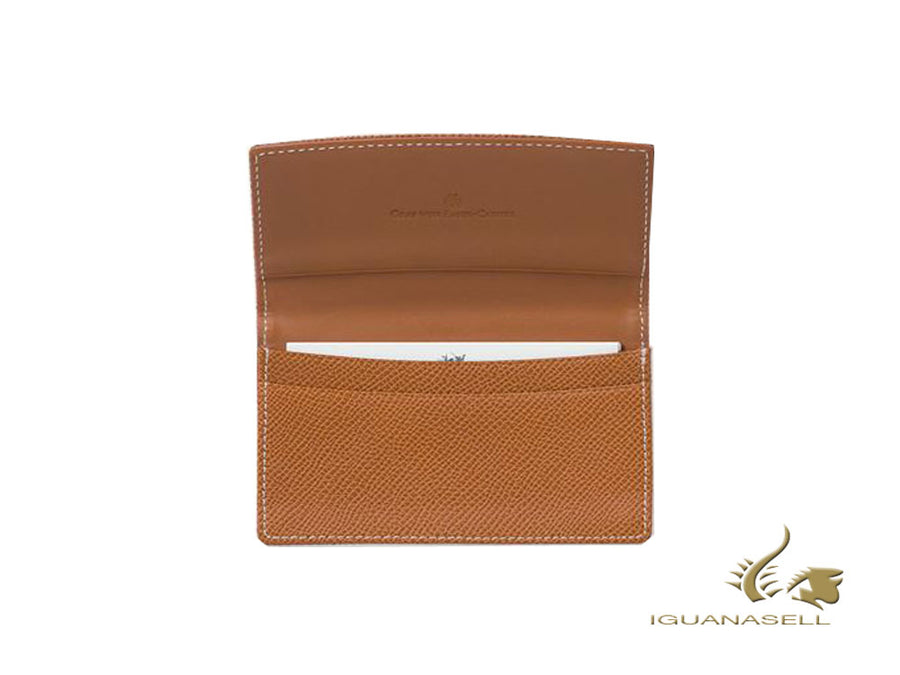 Graf von Faber-Castell Epsom Credit card holder, 2 Cards, Cognac,118884 Graf von Faber-Castell Credit card holder