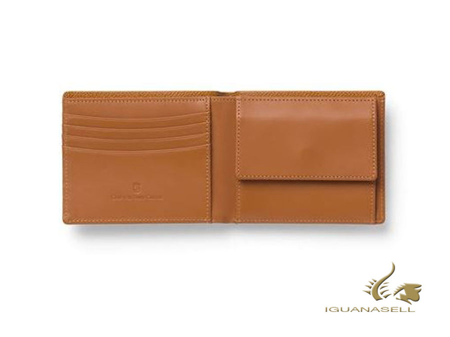 Graf von Faber-Castell Epsom Wallet, Brown, Calfskin Leather, 4 Cards, 118931 Graf von Faber-Castell Wallet