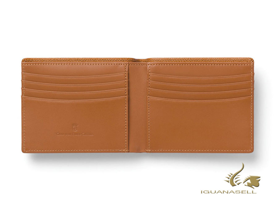 Graf von Faber-Castell Epsom Wallet, Brown, Calfskin Leather, 8 Cards, 118941 Graf von Faber-Castell Wallet