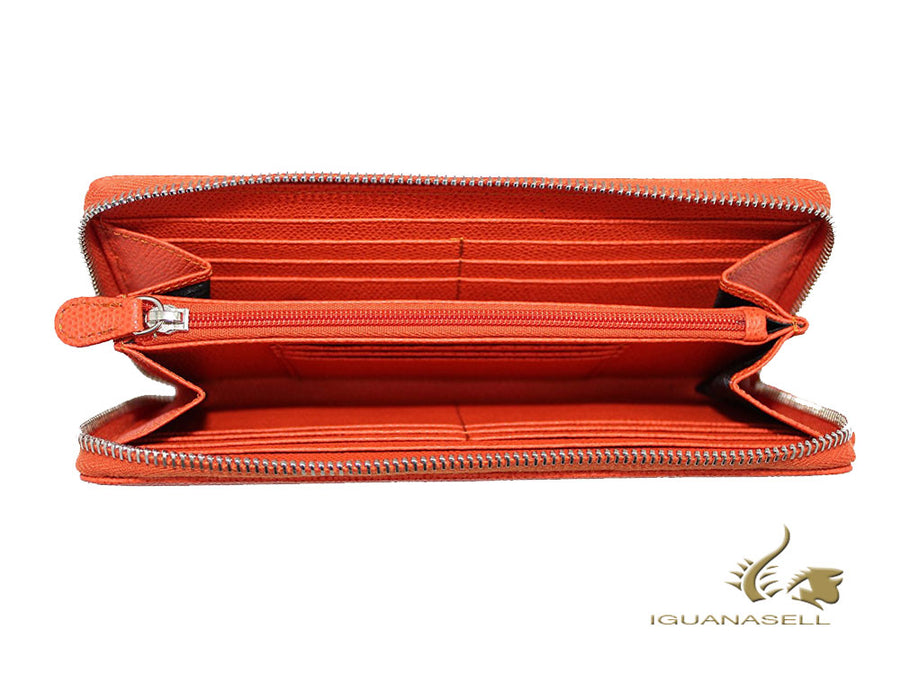 Graf von Faber-Castell Epsom Wallet, Orange, Leather, 14 Cards, Zip, 118924 Graf von Faber-Castell Wallet