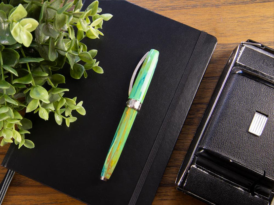 Visconti Van Gogh Irises Fountain Pen, Resin, Palladium trim Visconti Fountain Pen