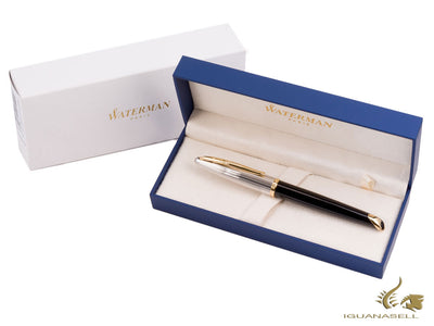 Waterman Carène Rollerball Pen, Black Lacquer, Gold Trim, S0699980 Waterman Rollerball pen