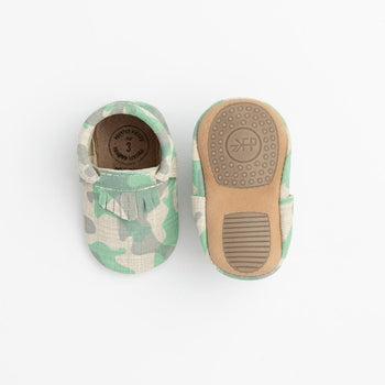 Green and Grey Camo City Mocc Mini Sole