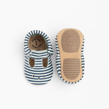Navy and White Stripes Mary Jane Mini Sole | Pre-Order