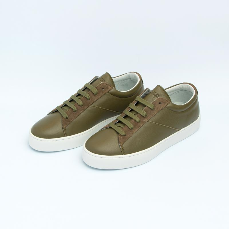 Women's Olive Classic Lace-Up Sneaker