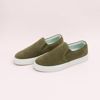 Women's Olive Slip-On Sneaker