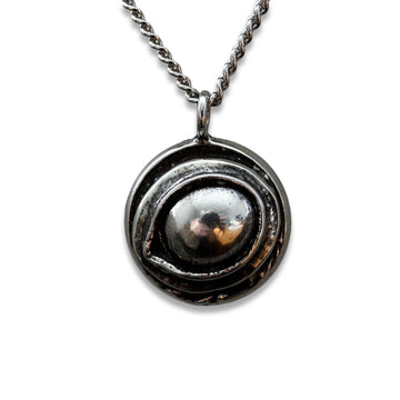 Eye of the Raven Protection Amulet Necklace - Moon Raven Designs