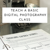 Teach Photography to Adults