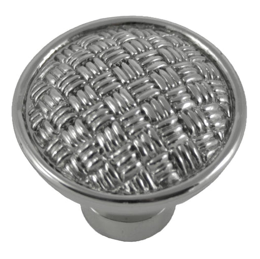 MNG Hardware M-14514 The Rattan Collection Polished Nickel Round Knob