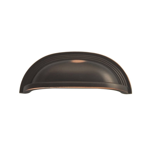 Hickory Hardware H-P3104-OBH Contemporary/Deco Oil Rubbed Bronze Highlighted Cup Pull