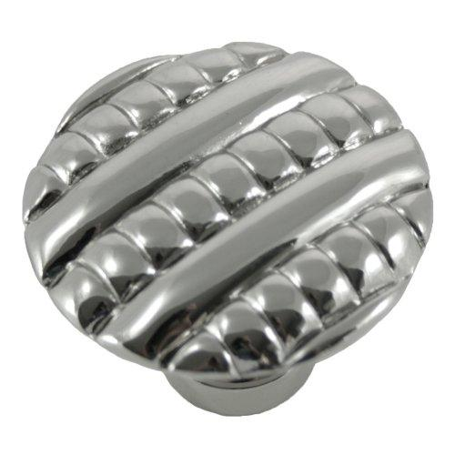MNG Hardware M-14714 Ribbed Polished Nickel Round Knob