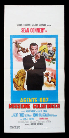 Goldfinger Italian locandina James Bond 007