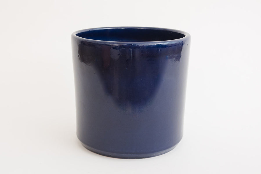 "8"" Pot / Planter - Cobalt Cylinder"