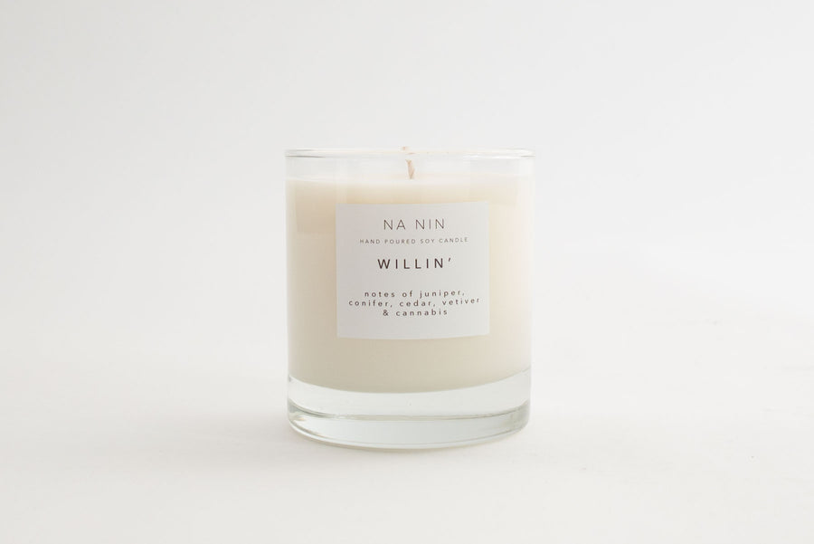 NA NIN Signature Candle 8oz | Willin'