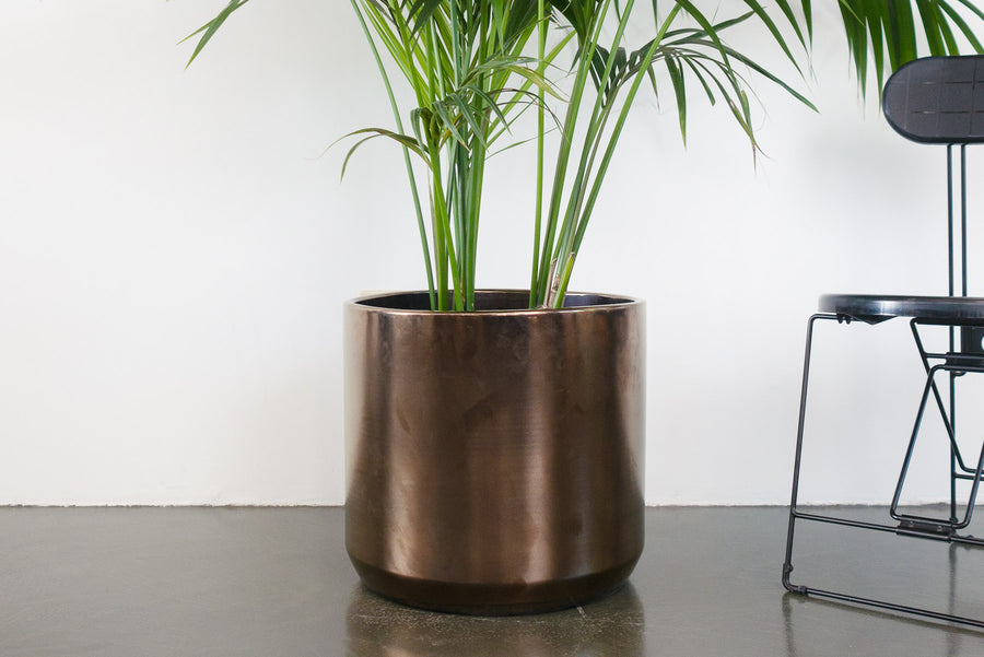 "18"" Pot / Planter - Bronze Cylinder"