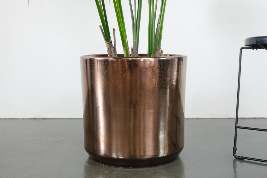 "15"" Pot / Planter - Bronze Cylinder"