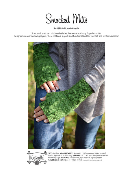 Smocked Mitts