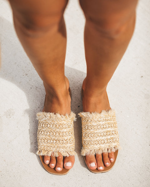 Sandy Toes Straw Slide Sandal - FINAL SALE