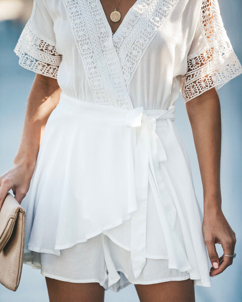 Spring Dreams Wrap Romper - Ivory
