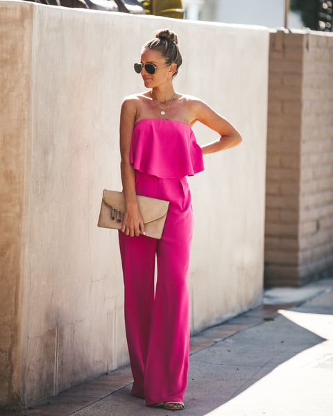 Pink Ladies Strapless Jumpsuit - FINAL SALE