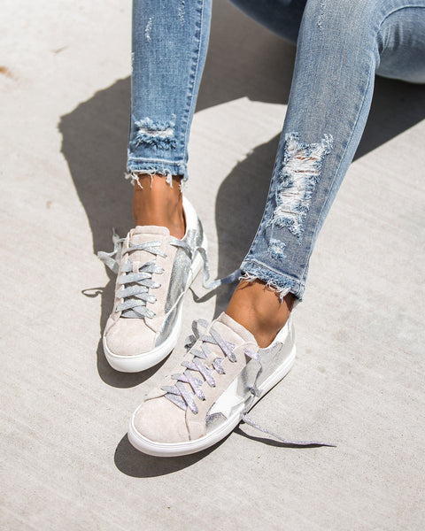 All-Star Faux Suede Metallic Sneakers