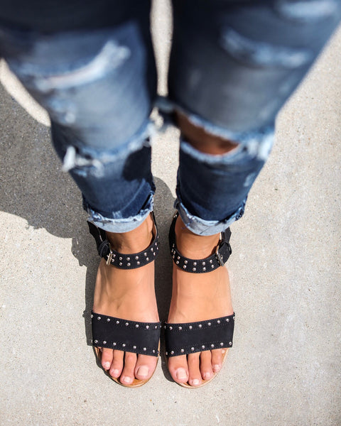 Hendrix Studded Heeled Sandals