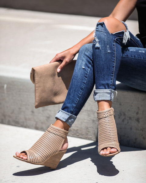 Saint Tropez Perforated Wedge - FINAL SALE