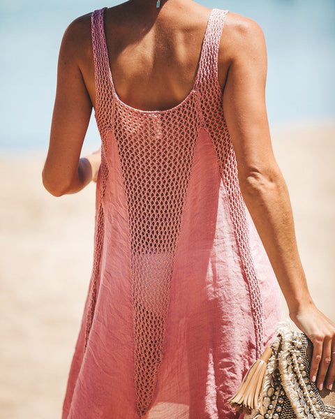 Pool Party Crochet Dress - Mauve