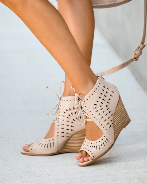 Auden Laser Cut Wedge - Natural