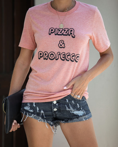 Pizza + Prosecco Cotton Blend Tee