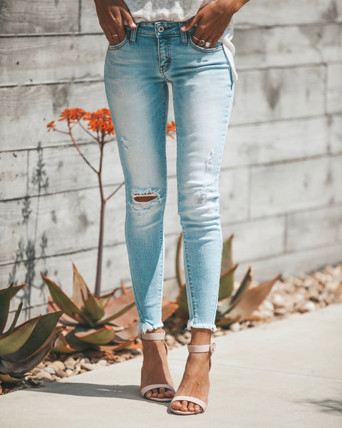 Molly Frayed Ankle Skinny - FLASH SALE