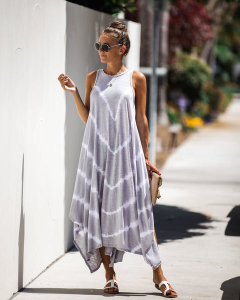 Melancholy Tie Dye Asymmetrical Dress