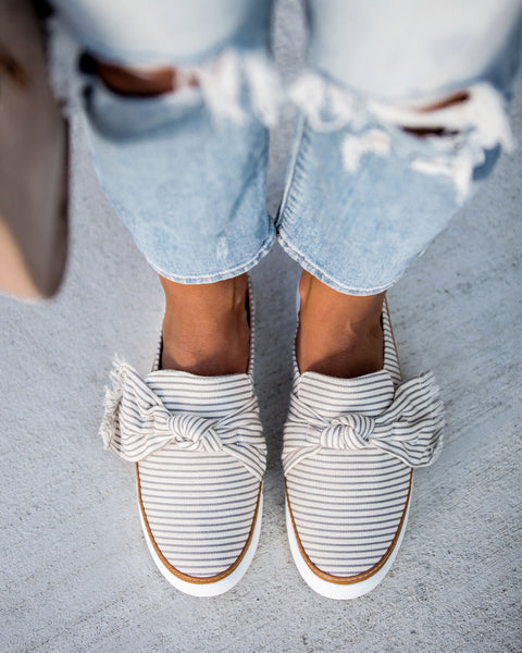 Anchors Away Striped Slide Sneakers