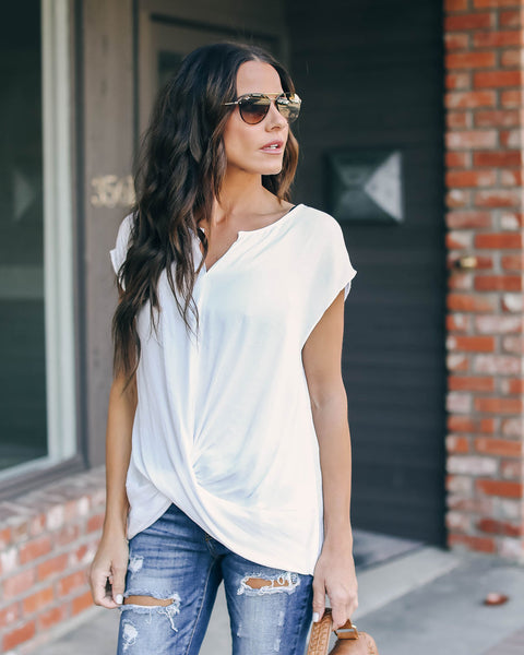Common Sense Twist Blouse - Off White