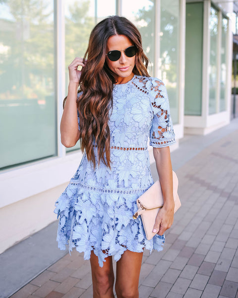 Morpho Lace Overlay Dress