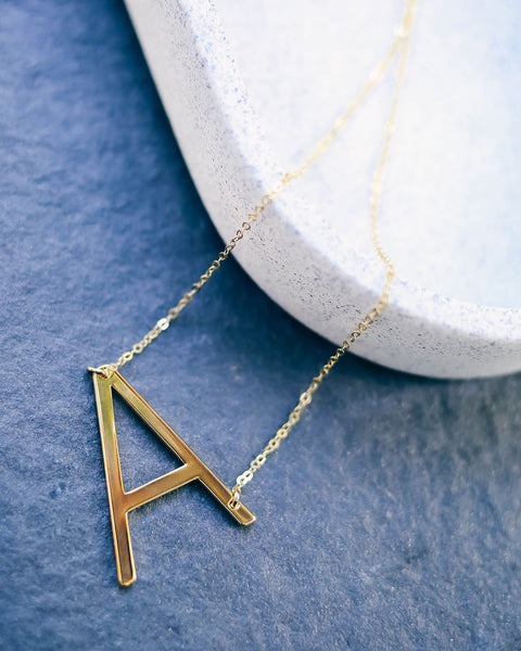 Meghan Bo Designs - Gold Initial Necklace