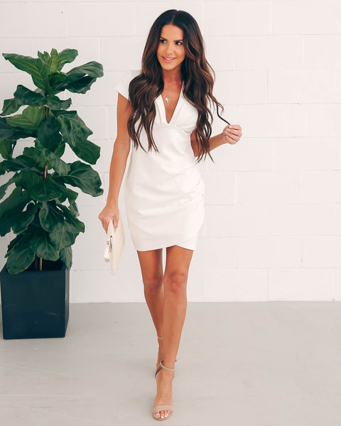 See You Again Bodycon Dress - White
