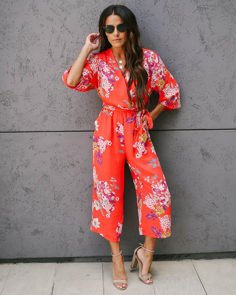 Push Petal Pocketed Jumpsuit